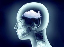 Иллюстрация концепции конспекта тумана мозга