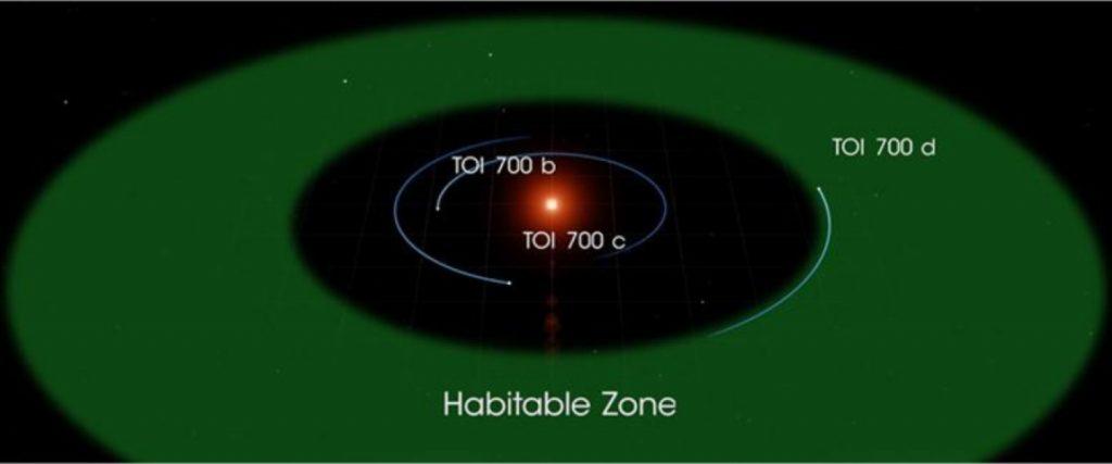 Эта иллюстрация TOI 700 d основана на нескольких смоделированных средах для океанической версии планеты.