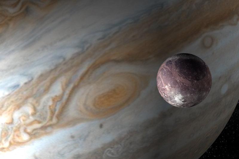 Хаббл обнаружил следы водяного пара на спутнике Юпитера Ганимеде